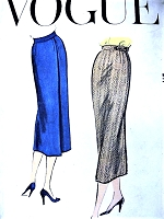 1950s STYLISH Easy To Make Slim Wrap Skirt Pattern VOGUE 9177 Waist 24 Vintage Sewing Pattern