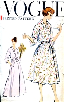 1950s BEAUTIFUL Shawl Collar Robe Brunch Coat Bathrobe House Coat Pattern VOGUE 9393 Easy To Make Bust 31-32 Vintage Sewing Pattern