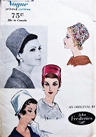 FAB 50s VOGUE 9923 John Frederics Pillbox Cloche Hats Vintage Sewing Millinery Pattern UNCUT
