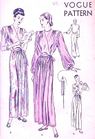 1940s GLAMOROUS HouseCoat Robe Negligee Pattern Two Beautiful Styles So Old Hollywood Lingerie Lux Bust 32 Vintage Sewing Pattern
