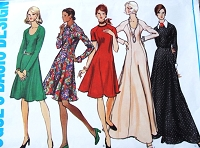 1970s FLATTERING Princess Dress Pattern VOGUE Basic Design 2781 Regular or Maxi Length Five Style Versions Bust 40 Vintage Sewing Pattern UNCUT