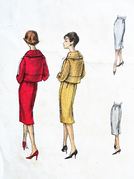 1950s ELEGANT Slim Suit Pattern VOGUE couturier Design 164 Short ...