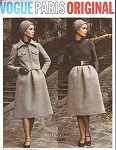 1970s ELEGANT Nina Ricci Dress and Short Jacket Pattern VOGUE PARIS Original 2480  Size 10 Vintage Sewing Pattern FACTORY FOLDED