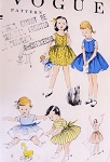 1950s SWEET Toddlers Little Girls Dress or Jumper Pattern Vogue 2724 Easy To Make Dress Size 2 Vintage Sewing Pattern
