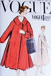 1950s Beautiful Flared Coat Pattern VOGUE SPECIAL DESIGN 4847 Daytime or Evening Glamour Bust 31 Vintage Sewing Pattern FACTORY FOLDED