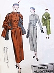 STUNNING 1940s  Suit and Stole Pattern Vogue Special Design 4927 Short  Fitted Jacket  Slim Peg Top Skirt Elegant Day or Dinner Bust 32 Vintage Sewing Pattern