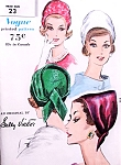 Stunning Early 60s DRAPED CLOCHE Hat Pattern Vogue 5212 Original Sally Victor Design Day or Evening Vintage Sewing Pattern FACTORY FOLDED