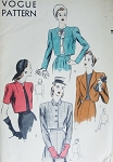 1940s High Fashion Easy To Sew Bolero Cropped Jackets Pattern Vogue 5366 Three Styles Day or Evening Vintage Sewing Pattern