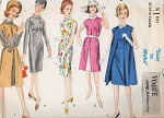 1960s Sheath Dress and Redingote Pattern Vogue Young Fashionables 5689 Bust 34 Vintage Sewing Pattern FACTORY FOLDED