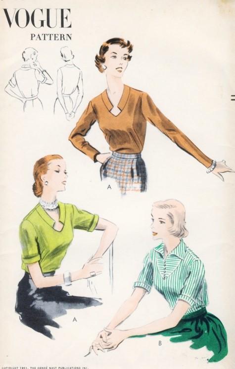 Vogue Blouse Pattern Vintage 117