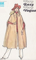 70s CLASSY Midi Cape Coat Pattern Very Easy Very VOGUE 7985 Size Medium Vintage Sewing Pattern UNCUT