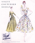 1950s GORGEOUS Evening Ball Gown or Cocktail Party Dress Pattern VOGUE COUTURIER Design 850 Gala Event Style Bust 28 Vintage Sewing Pattern