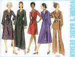 1970s Wrap Dress Tunic and Patterns Pattern Vogue Basic Design Several Lengths and Styles Daytime to Evening Bust 38 Vintage Sewing Pattern FACTORY FOLDED