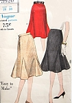 1960s Lovely Godet Skirt Pattern Easy To Make Vogue 5320 Flirty Gored Skirt With Low Godet Sections Daytime or Evening Waist 28 Vintage Sewing Pattern FACTORY FOLDED
