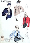 1940s Striking Bolero Jackets Pattern Easy To Make Vogue 5660 Vintage Sewing Pattern 4 Style Versions FACTORY FOLDED Bust 34