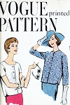 1950s Jacket Blouse Pattern Easy To Make Vogue 9513 Straight Jacket Two Styles  Bust 34 Vintage Sewing Pattern FACTORY FOLDED