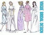 1970s Jane Austen Style Empire Wedding Gown Dress Pattern Vogue Special Design 2448 Five Style Versions Bust 34 Vintage Sewing Pattern