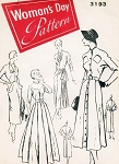 1940s STUNNING Daytime and Evening Dress Pattern WOMANS DAY 3193 Four Amazing Designs Couture Style For All Occasions  Bust 32 Vintage Sewing Pattern