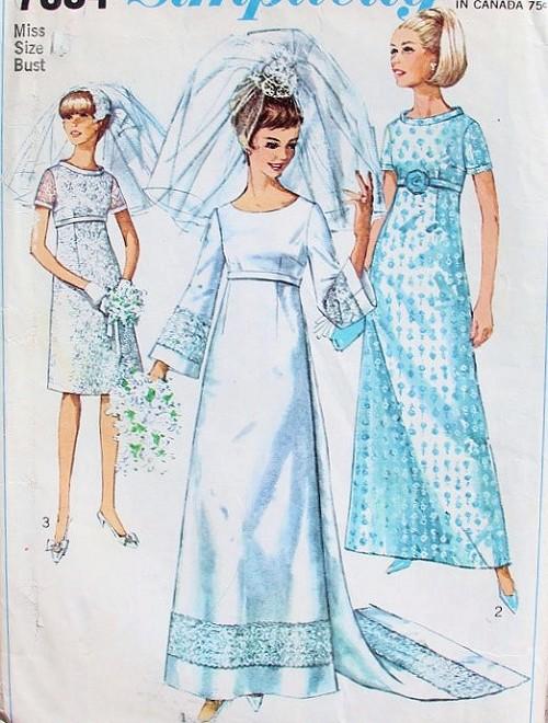 Wedding Dress Patterns Empire Line : Gt bridal wedding patterns s empire a line dress