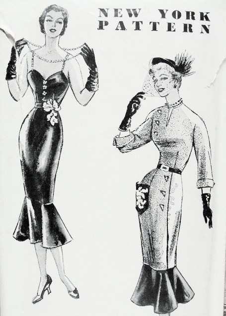 1940s RARE NEW YORK PATTERNS No.7 EVENING COCKTAIL DRESS