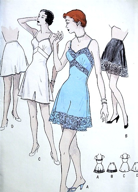 1950s LOVELY Lingerie Pattern BUTTERICK 5281 Pin Up Style CHEMISE  or  Tailored Tap Panties Bust 34 Vintage Sewing Pattern FACTORY FOLDED