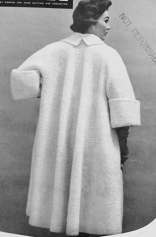 Sweater Coat Knitting Pattern : Instant pdf pattern crochet and knit glam s full swing