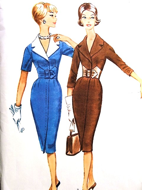 1960s STUNNING Slim Dress Day or Cocktail Evening Pattern McCALLS 5581 Slim Figure Flattering Design Bust 32 Vintage Sewing Pattern FACTORY FOLDED
