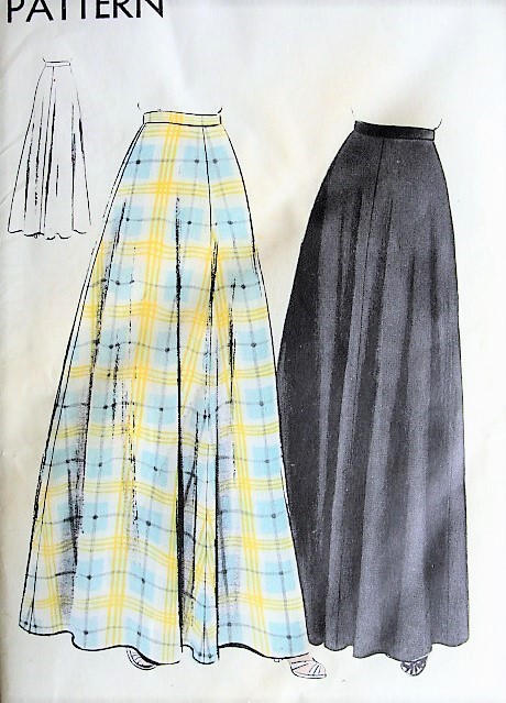 1940s Classy Evening Skirt Pattern Vogue 9603 Easy To Make