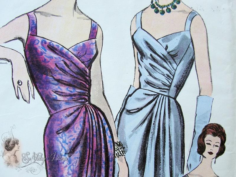 1960s Evening Gown Pattern Vogue Couturier Design 1016 Dazzling Slim ...