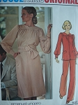 1970s DRESS, TUNIC, PANTS PATTERN UNGARO  VOGUE PARIS ORIGINAL