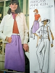 ANNE KLEIN VOGUE AMERICANA  PATTERN JACKET,SKIRT,PANTS,BODYSUIT