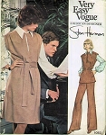 1970s Designer Jumper Dress or Tunic, Blouse and Flared Leg Pants Pattern VOGUE AMERICANA 1083  Stan Herman Easy 70s Style  Size 10 UNCUT Vintage Sewing Pattern