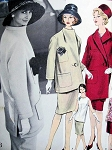 1960 Nina Ricci Unique Suit Pattern Vogue Paris Original 1083 ASYMMETRICAL Jacket Tunic Blouse Slim Skirt Vintage Sewing Pattern