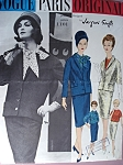 60s Classy Slim Skirt Suit and Blouse Pattern Jacques Griffe Vogue Paris Original 1101 Vintage Sewing Pattern Bust 32