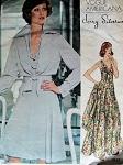 VINTAGE 1970S EVENING DRESS, JACKET VOGUE PATTERN 1117
