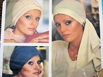 1970s CLASSY Jean Muir Set of 3 Hats Pattern VOGUE Couturier Design 1148 Chemo Cancer Head Scarf Hats Vintage Sewing Pattern FACTORY FOLDED