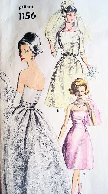 1960s Ronald Paterson Gorgeous Wedding Gown Bridal Dress Pattern ...