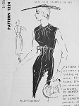 1950s CHIC KNOCK OUT JO COPELAND COCKTAIL DINNER DRESS PATTERN EMPIRE STYLE,LOVELY GATHERED BODICE, PERFECT LITTLE BLACK DRESS SPADEA AMERICAN DESIGNER PATTERNS 1224