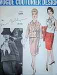 1960s IRENE GALITZINE Suit and Blouse Pattern VOGUE COUTURIER DESIGN 1271 Vintage Sewing Pattern Bust 38