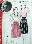 VINTAGE BLOUSE, SKIRT RENEE HAAL  1940S HOLLYWOOD PATTERN