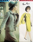 1960s CLASSY Nina Ricci Slim Dress and Jacket Pattern VOGUE Paris Original 1313 Elegant Audrey Style Bust 34 Vintage Sewing Pattern