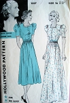 1940s DAY or EVENING GOWN DRESS PATTERN HOLLYWOOD PATTERNS ANITA LOUISE