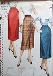 1950s ONE YARD SLIM SKIRTS PATTERN SIMPLE TO MAKE SIMPLICITY 1345