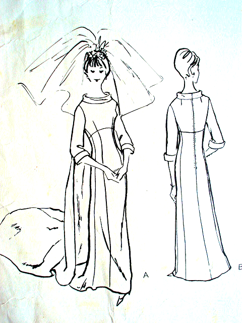 1960s wedding dress bridal gown pattern vogue couturier design 1347 40'S Sweater Patterns 1960s wedding dress bridal gown pattern vogue couturier design 1347 john cavanagh of london elegant empire dress bust 31 vintage sewing pattern