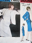 1960s Classy Dress and Jacket JACQUES GRIFFE Vogue Paris Original 1360 Slim Dress Semi Fitted Jacket Daytime or Cocktail Vintage Sewing Pattern