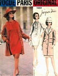 1960s COAT, TUNIC DRESS PATTERN JACQUES HEIM VOGUE PARIS ORIGINAL 1462