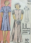 1930S DUBARRY PATTERN 1469 GIRLS PRINCESS DRESS, WEDDING BRIDAL FLOWER GIRL DRESS