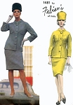 1960s FABIANI  Sleek Mod Suit Pattern Ultra Slim Skirt Fab Longer Jacket Vogue Couturier Design 1481 Vintage Sewing Pattern Bust 34