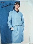1960s  MOD DRESS, JACKET PATTERN CHRISTIAN DIOR VOGUE  PARIS ORIGINAL 1484