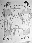 ANTIQUE FANCY APRONS PATTERN  2 STYLES PICTORIAL REVIEW 1487